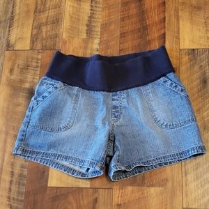 Liz Lange maternity denim shorts size S
